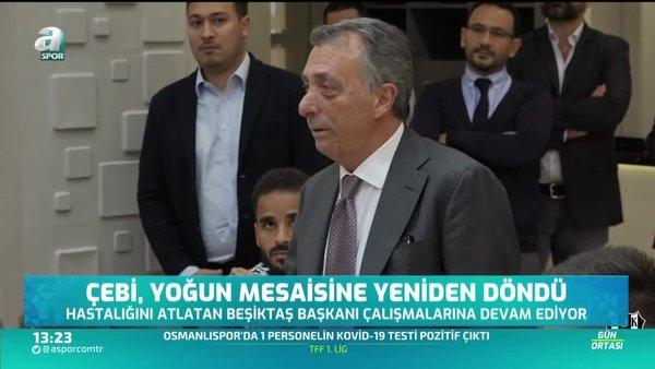 Ahmet Nur Çebi yoğun mesaisine yeniden döndü