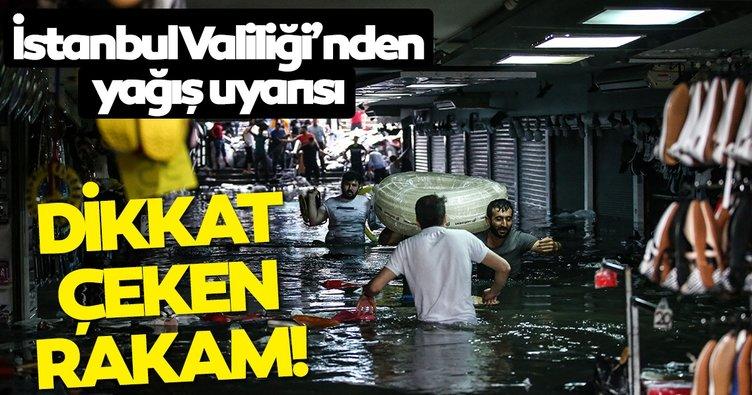 """İstanbul Valiliğinden şiddetli yağışa ilişkin açıklama Valilik: """"Kuvvetli yağış sabah saatlerine kadar devam edecek"""""""