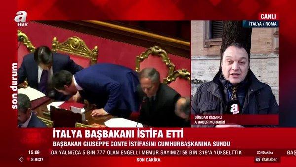 Son dakika! İtalya'da BaşbakanGiuseppe Conteve hükümeti istifa etti   Video
