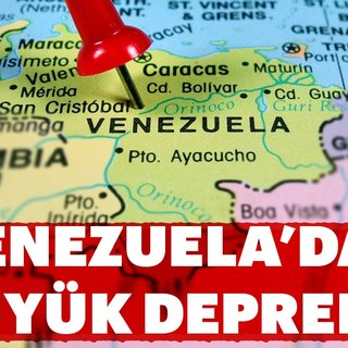Venezuela'da büyük deprem
