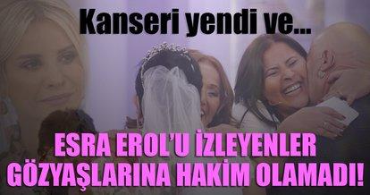 Kanseri yenen Sultan Hanım, Esra Erol'da gelinlik giydi