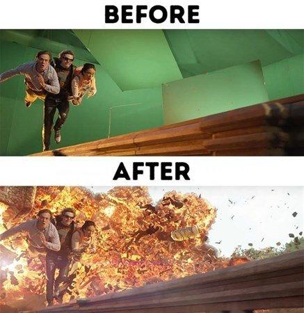 Filmlerden efektler çıkınca...