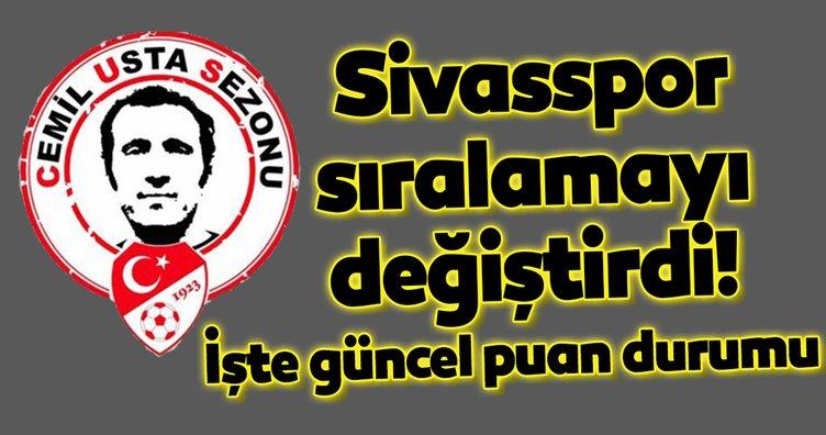 Sivasspor sıralamayı değiştirdi! İşte Süper Lig'de güncel puan durumu
