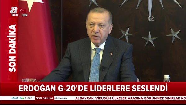 Başkan Erdoğan G-20'de liderlere seslendi   Video