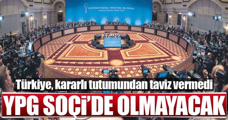 YPG Soçi'de olmayacak
