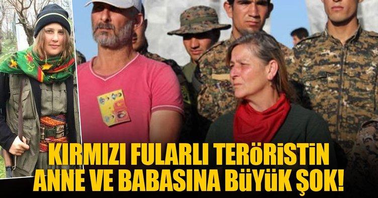 Kırmızı fularlı teröristin anne ve babası gözaltına alındı