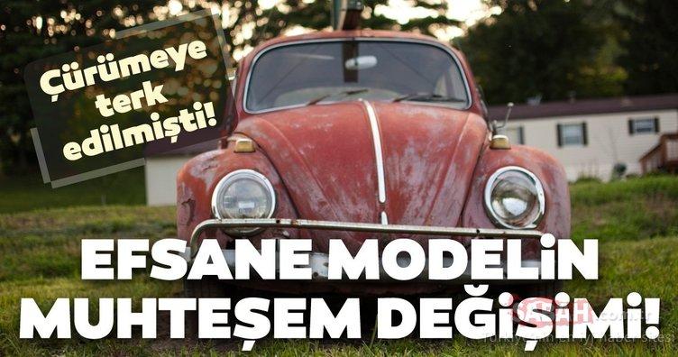 Efsane model Volkswagen Beetle çürümeye terk edilmişti! Muhteşem değişimle yollara geri döndü