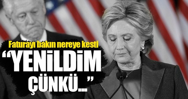 Clinton yenilgisinden dolayı FBI'ı suçladı