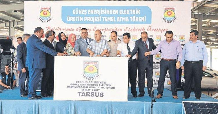 Tarsus'ta güneş enerjisi santralinin temeli atıldı