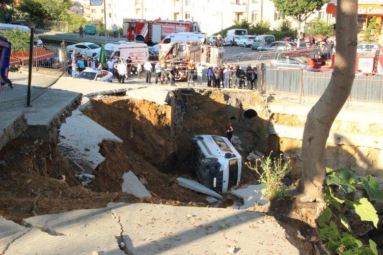 Üsküdar'da AVM inşaatında göçük