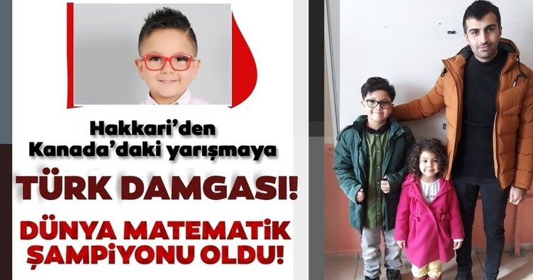 Son dakika: Hakkari'den Kanada'daki yarışmaya Türk Damgası! Dahi çocuk Yusuf, matematikte dünya şampiyonu