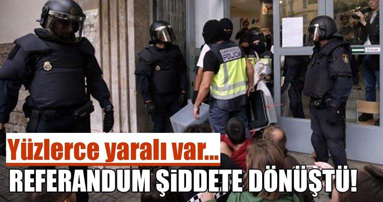 İspanya'daki gösterilerde yüzlerce yaralı var!
