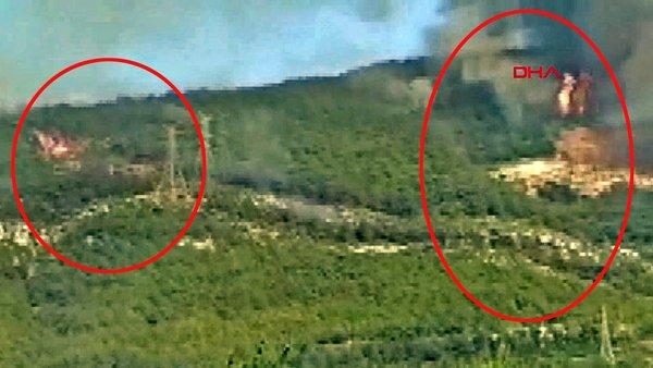 Son dakika! Hatay İskenderun'daki orman yangınlarında kundaklama anı görüntüleri iddiası | Video