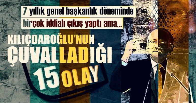 Kılıçdaroğlu 15 kez çuvalladı!