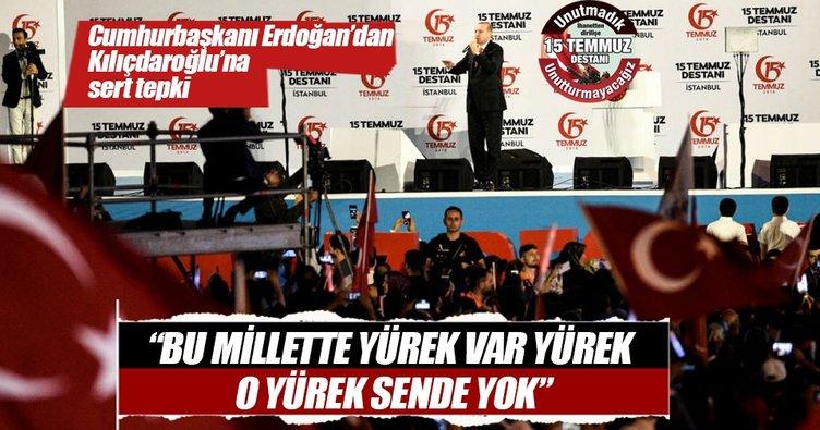 Cumhurbaşkanı Erdoğan: Bu millet senin gibi, ürkek, korkak değil