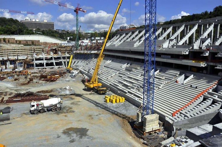 Vodafone Arena'da çalışmalar tüm hızıyla sürüyor