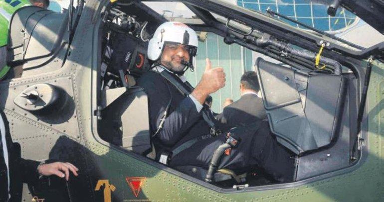 Abbasi, ATAK ile 30 dakika uçtu