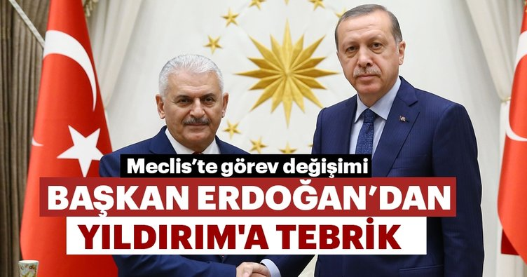 Başkan Erdoğan Binali Yıldırım'ı tebrik etti