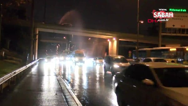 İstanbul D-100'de sürücüleri şaşırtan görüntü   Video