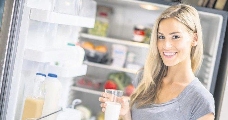 Sütü buzdolabı kapağında saklamayın