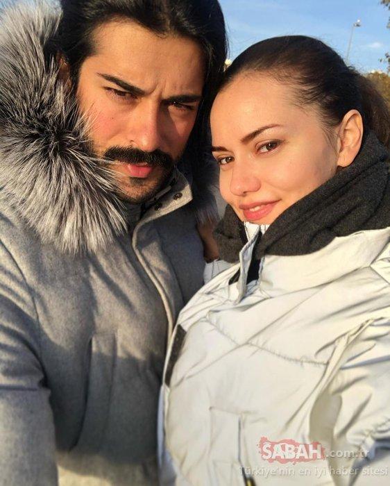 Fahriye Evcen aşkını haykırdı! Fahriye Evcen'den eşi Burak Özçivit'e evlilik yıl dönümlerinde jest!