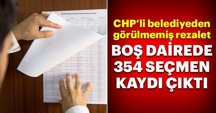 CHP'li belediyeden görülmemiş rezalet! Boş dairede 354 seçmen...