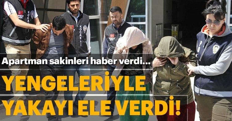 Kocaeli'de yengeleriyle hırsızlık yaparken yakalandı