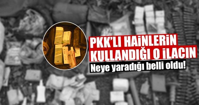 PKK'lı hainlerin kullandığı o ilacın neye yaradığı belli oldu!