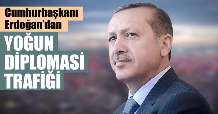 Cumhurbaşkanı Erdoğan'dan yoğun diplomasi trafiği
