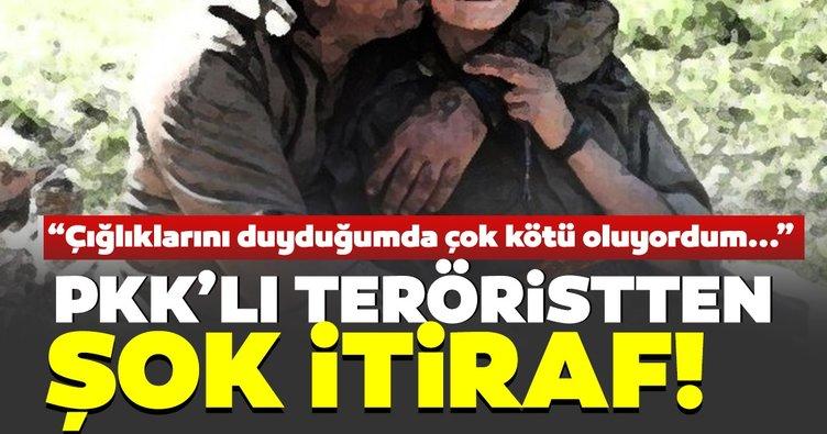 Son dakika | PKK'lı teröristten şok itiraf! Çığlıklarını duyduğumda çök kötü oluyordum...