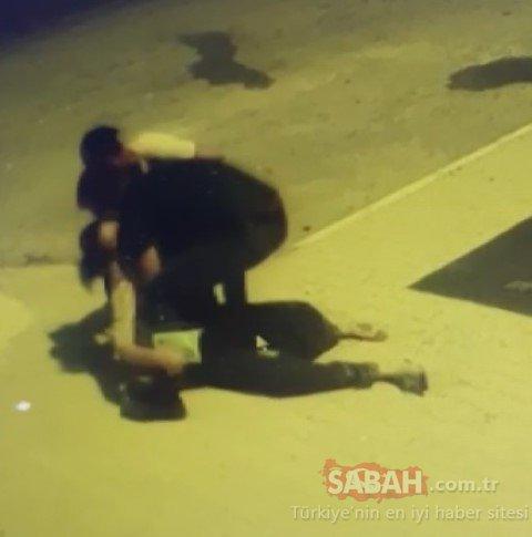 Osmaniye'de akılalmaz görüntüler! Tartıştığı eşine kafa atan saldırgan kamerada