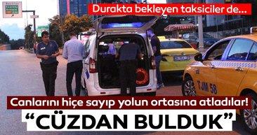 Beşiktaş'ta otomobilden yola düşen cüzdandan paralar saçıldı