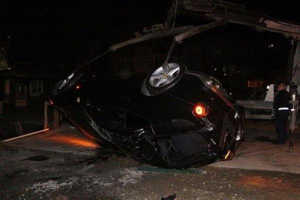 Burak Yılmaz'ın karıştığı iddia edilen kazadan görüntüler