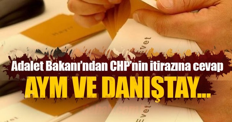 Bozdağ'dan CHP'nin AYM ve Danıştay başvurusuna cevap