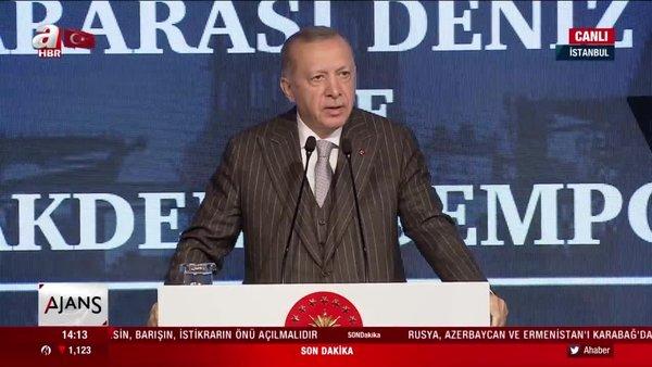 Cumhurbaşkanı Erdoğan'dan Doğu Akdeniz Sempozyomu'nda flaş açıklamalar   Video
