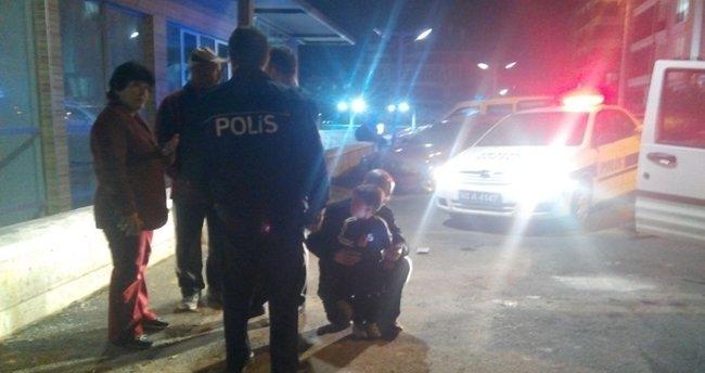 Alkollü baba 2 yaşındaki oğlu ile polisten kaçmaya kalkıştı