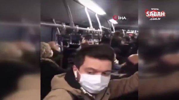 İstanbul'da metrobüsteki tekmeli yumruklu kavga kamerada   Video