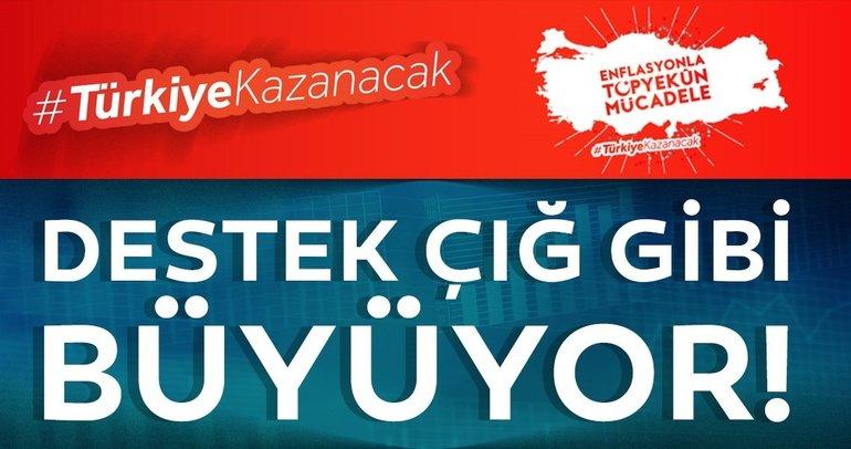 Enflasyonla mücadele programına tam destek!