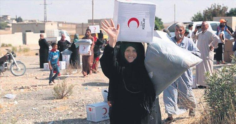 Türk Kızılayı'ndan harekat bölgesine yardım
