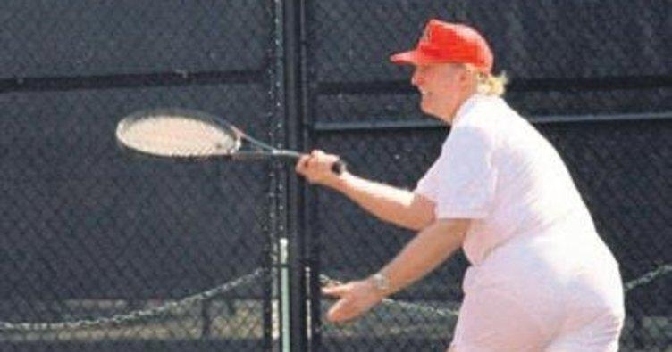 Trump günlerini golf oynayarak geçiriyor