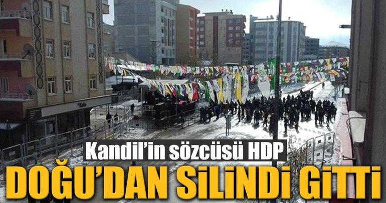 Kandilin sözcüsü HDP Doğudan silindi gitti