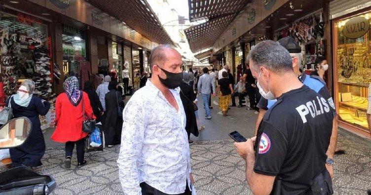 Gaziantep'te maske takmama ve sosyal mesafe cezası