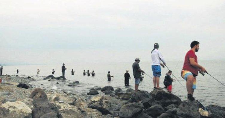 Balıkçılar İznik Gölü'nde yarıştı