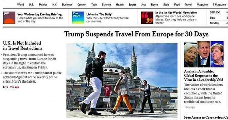 New York Times çark etti