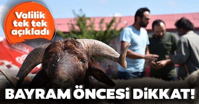 Son dakika: Kurban Bayramı'nda bu tedbirlere dikkat! İstanbul Valiliği tek tek açıkladı