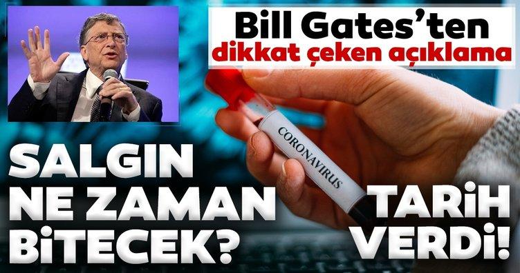 Son dakika haberi: Bill Gates'ten coronavirüs açıklaması! Salgın ne zaman bitecek?