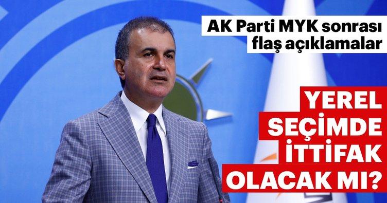 AK Parti Sözcüsü Ömer Çelik'ten yerelde ittifak açıklaması