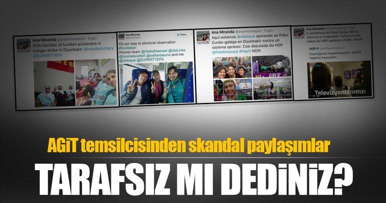 AGİT temsilcisinden skandal paylaşımlar