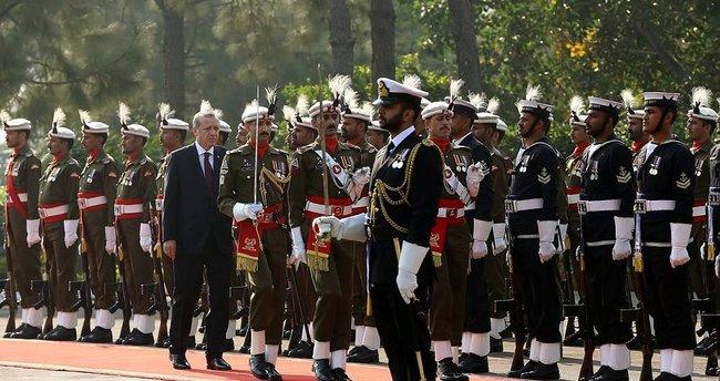 Cumhurbaşkanı Erdoğan, Pakistan Başbakanı Şerif ile görüşüyor