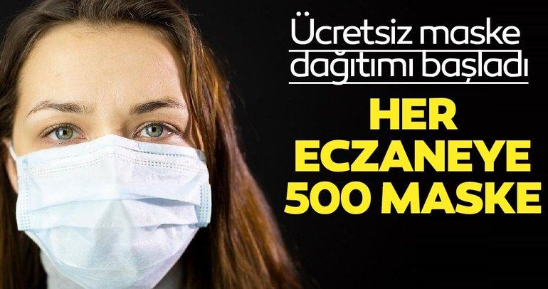 Ücretsiz maske dağıtımı başladı her eczaneye 500 maske